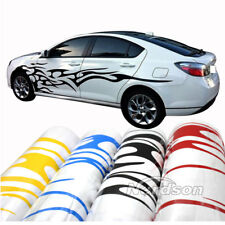1 Pair Universal Graphics Decals Car Flame Decor Fire Totem Stickers Whole Body