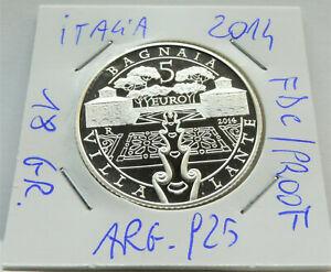 RARA (5000 PZ.) MONETA ARGENTO 5 EURO ITALIA  2014,PESO 18 GR. COND. FDC/PROOF
