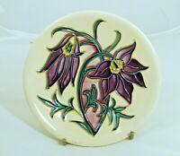 Beautiful Moorcroft Floral Pattern Coaster/Pin Dish! Made in England!