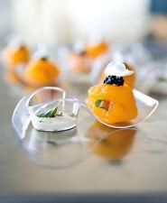 Joblot de cocktail en plastique 60 incurvée plats........... petit parti dessert clair
