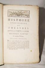 HISTOIRE UNIVERSELLE DES THEATRES 1780  T 11 & 12 THEATRE FRANCAIS
