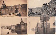 Lot 4 cartes postales anciennes CONCARNEAU