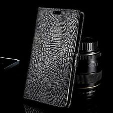 Luxury Crocodile PU Leather Stand Wallet Flip Case Cover For HTC U11 A9S M10 626