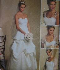bridal WEDDING DRESS pattern 8 10 12 14  pucker skirt detach sleeve options GOWN
