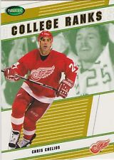 02-03 Parkhurst Chris Chelios /100 College Ranks Red Wings 2002