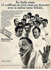 PUBLICITE  1969   SCHICK   lame de rasoir meme en Italie