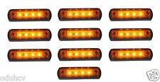 10 pièces X 12V 4 LED marquage latéral orange ambré FEUX pour IVECO VOLVO FORD