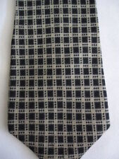 Gap Black Tan Checker Designs Silk Tie 57""