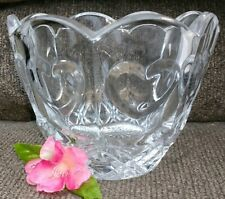 Glass Bowl Heart Design Vase Candy Dish Bowl