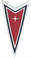"""OER Red Front End Crest """"Arrowhead"""" Emblem 1977-1981 Pontiac Firebird"""