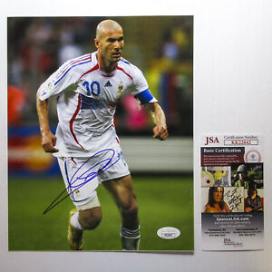 Zinedine Zidane Signed 2006 World Cup Finals France 8x10 Photo EXACT Proof JSA B