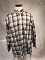 Daniel Cremieux Collection Men's X Large Blue Multi-color Plaid L/S Shirt