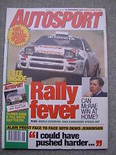 Autosport (18 Nov 1993) Porsche 917 v 962, Alain Prost, Kankkunen, Olivier Panis