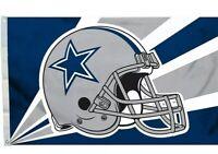 Dallas Cowboys 3x5 Ft Flag - Helmet Design NFL Banner Sign Wall Man Cave Poster