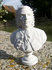 RE0106 FIGURINE  REPRODUCTION BUSTE STYLE ALBATRE MUSICIEN BACH 6 SUR 12
