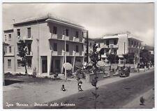 0264 RIMINI BELLARIA IGEA MARINA - HOTEL PENSIONI Cartolina FOTOGRAF viagg. 1956