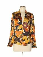 Pendleton Silk Button Double Breasted Wrap Blouse Top Floral Women Sz 6 Small