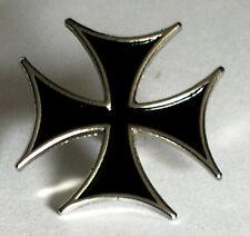METALLO SMALTO SPILLA BADGE SPILLA CROCE MALTESE Malta croce di ferro nero