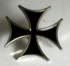 Metal Enamel Pin Badge Brooch Cross Maltese Malta Iron Cross Black