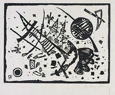"""WASSILY KANDINSKY """"HOLZSCHNITT FÜR DIE GANYMED-MAPPE"""" (R. 181) 1924  HAND SIGNED"""