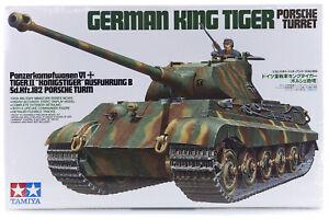 Tamiya 1/35 German King Tiger Ausf.B (Porsche Turret) (Sd.Kfz.182) Tank Scale...