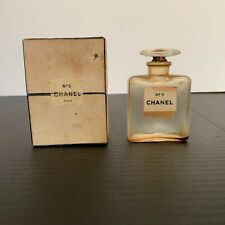 Vintage Chanel No 5 Perfume Bottle Extrait PM With Box Empty