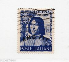 1949 Italy Trieste AMG FFT Sc# 50 Θ used Lorenzo - Allied Military Government