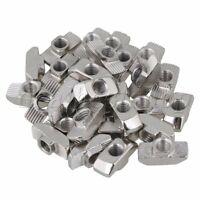 30x Hammer Head T- Nut Drop In M6 for 40 Series European Aluminum Slot Silver