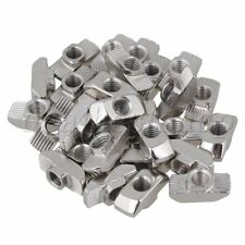 30x Hammer Head T- Nut Drop In M6 for 40 Series European Aluminum Slot Silver
