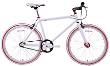 "JUNIOR SIZE FIXIE BIKE 24"" WHEEL 45CM FRAME, SINGLE SPEED, FLIP FLOP HUB WHITE"