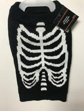 HALLOWEEN PET DOG SWEATER BLACK RIB CAGE SIZE MEDIUM