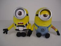 Minions Beanie Baby Ty Despicable Me 3 CARL & MEL Prison Plush Toy 6 Inch