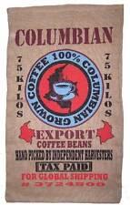 COLUMBIAN COFFEE BEANS BURLAP BAG  EXPORT GROWN KILO BAG