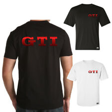 """EAKS® Herren T-Shirt """"GTI-SCHRIFTZUG"""" rot #2 Logo Emblem Golf MK 1 2 3 4 5 6 7"""