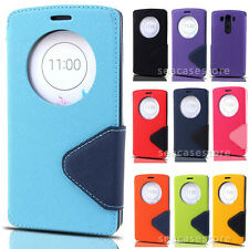 Triangle View Window Card Wallet Leather Flip Case Cover For LG G4 G3 Mini D690