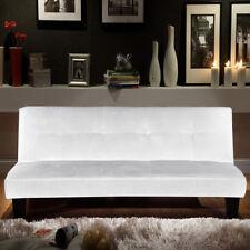 Divano letto moderno 164x95 bianco microfibra soggiorno sofa arredi interni |k8