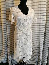 ESCADA Robe Dress Kleid Taille 36 BLANC