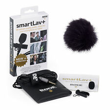 RODE smartLav+ Lavalier Microphone with 1x RODE Fur Wind Shield