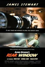 "REAR WINDOW Movie Silk Fabric Poster 15.7""x24"" 1954 Alfred Hitchcock Psycho"