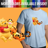 Disney Winnie the Pooh Bear and Tigger Friends Cute Unisex Mens Tee Crew T-Shirt