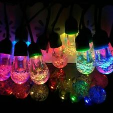 Solar Powered Multi Colour Bubble Bulb String Lights Outdoor Christmas LED's