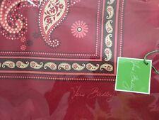 Vera Bradley Retired Mesa Red Limited Edition Silk Scarf