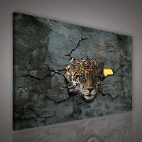 : LEINWANDBILD BILD WANDBILD BILD FOTO POSTE GOLD TIERE AUGEN TIGER 3FX1990 O1