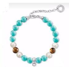 Thomas Sabo Charm Bracelet CX0224 Turquoise BRACELET 14.5-18.5cm RRP $99
