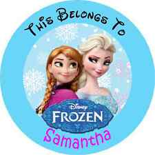 24 PERSONALIZED DISNEY FROZEN Property Stickers school books Name TAGS Labels