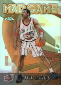 2001-02 Topps Chrome Mad Game Refractors Basketball Card #MG8 Steve Francis