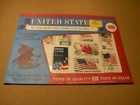 "FRANCOBOLLI USA ""old glory and other flag stamp 8x closed envelop all different"