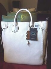 NWT COACH Play Tall Tatum 30 in Pebbled Leather Tote Nickle Tone White F37115