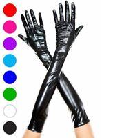 Extra Long Metallic Gloves - Music Legs 457
