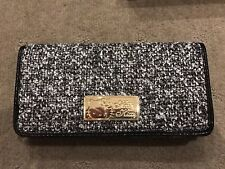 Genuine Sanrio Hello Kitty  - Black - Tweed Long Wallet Purse Bag - Japan - BNIB